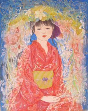 花の綿帽子